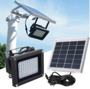Semintech Solar Flood Lights 54 LED 500 Lumens 6W Solar Panel