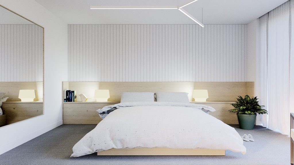 Embrace minimalism in small bedroom