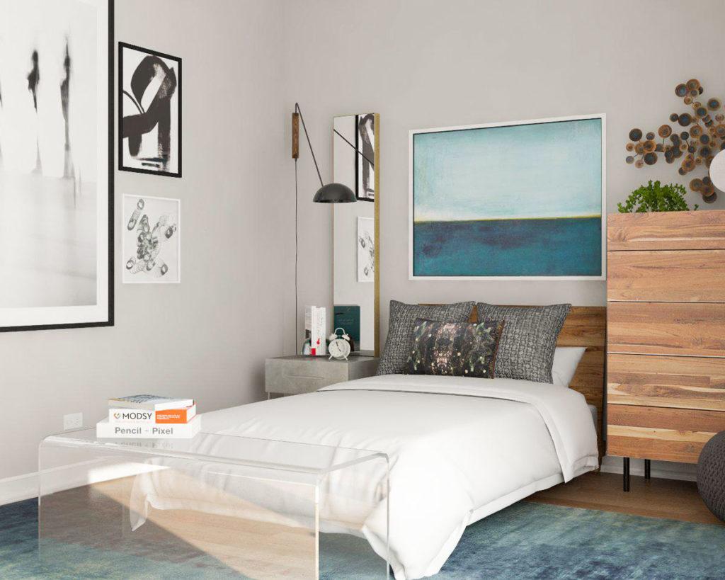 Keep things simple in the bedroom
