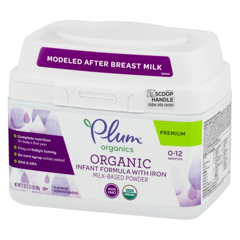 Plum Organic Infant Formula With Iron